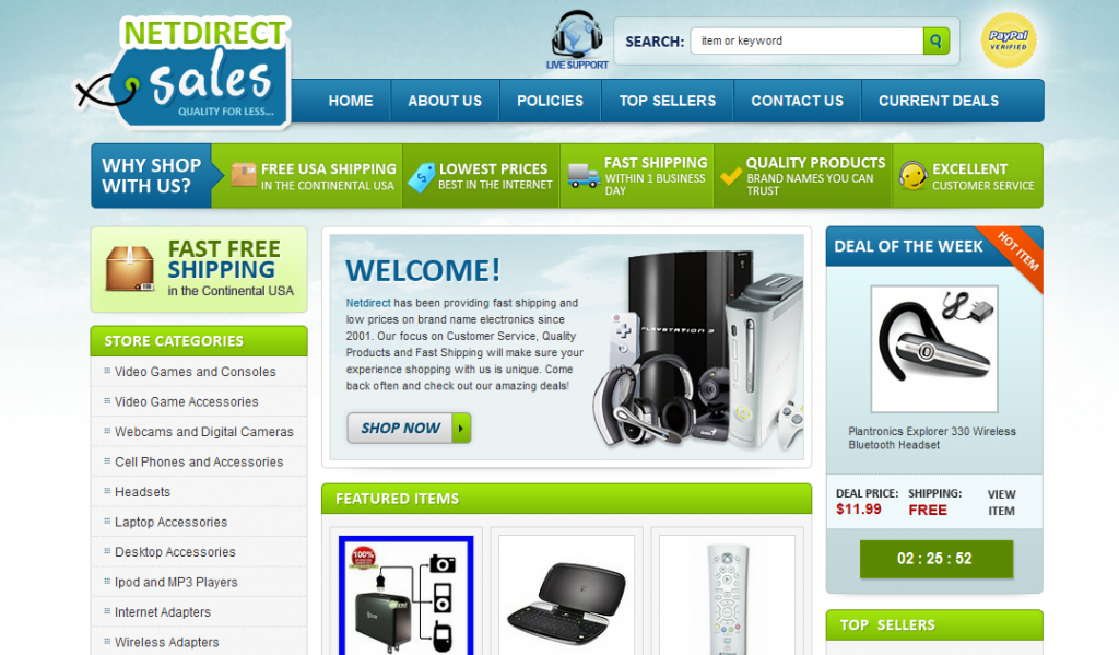 netirectdeals ebay store design exclusive deal of day feature