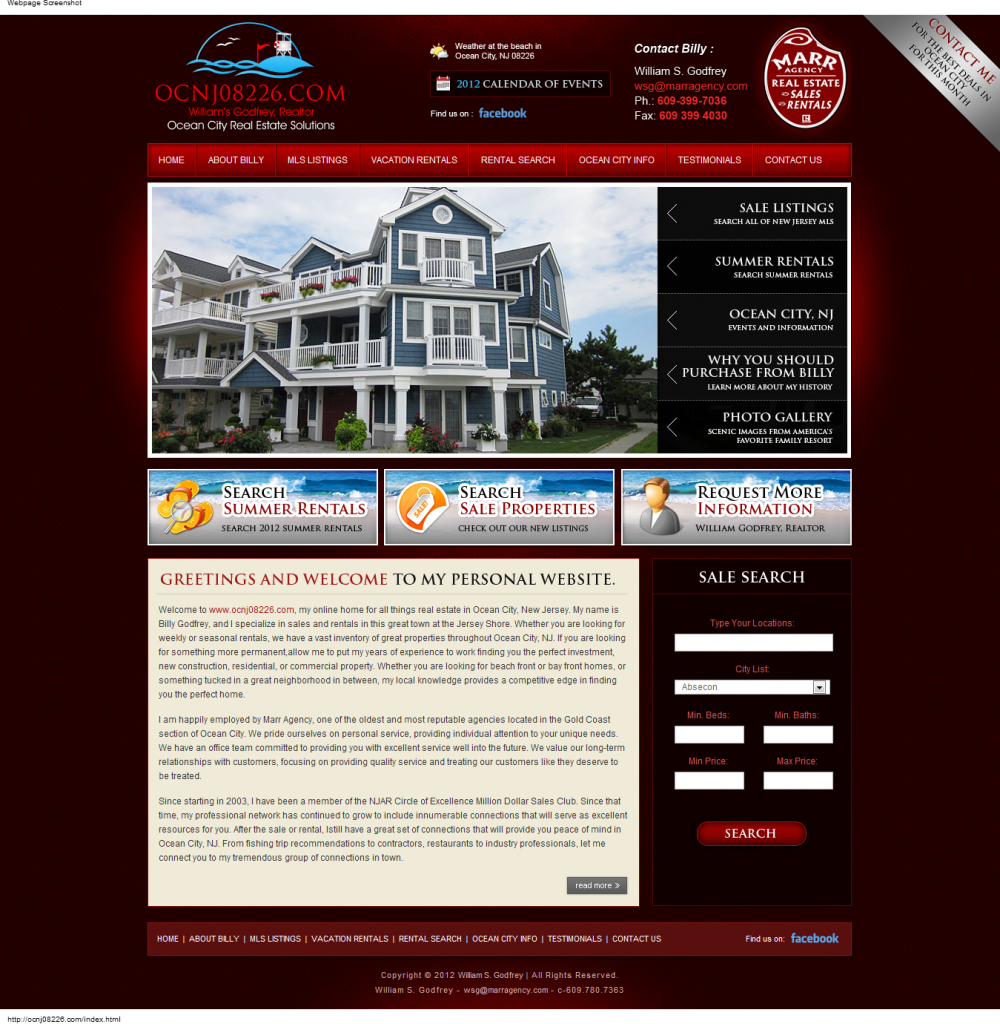 OCNJ08226 Informational Website Design