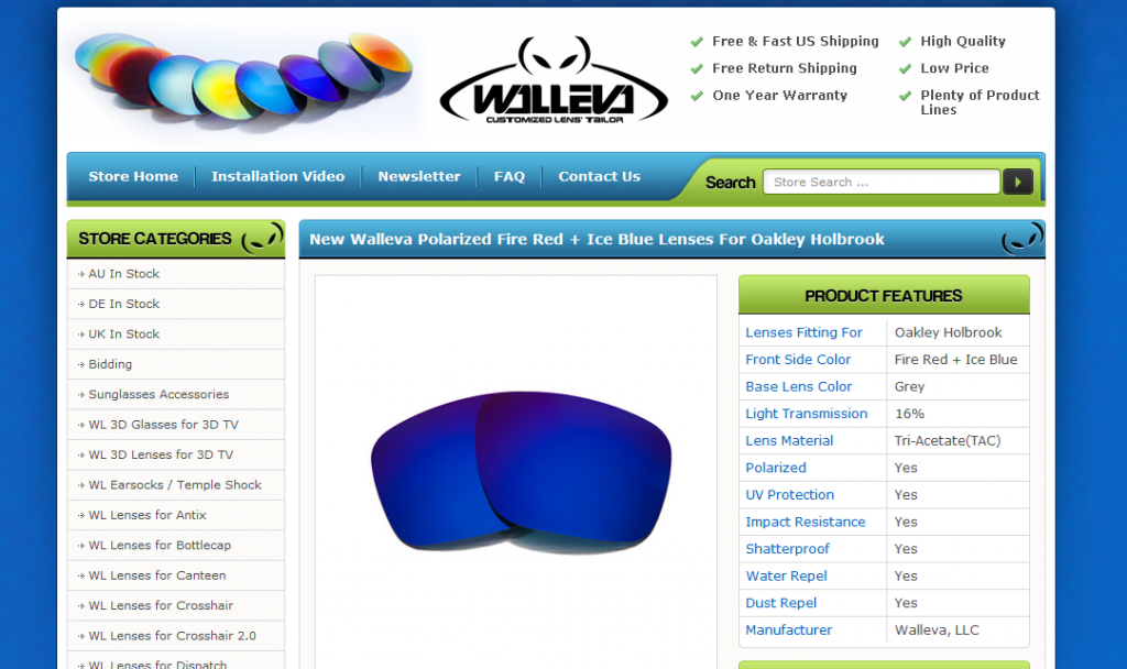 walluva lenses ebay template design