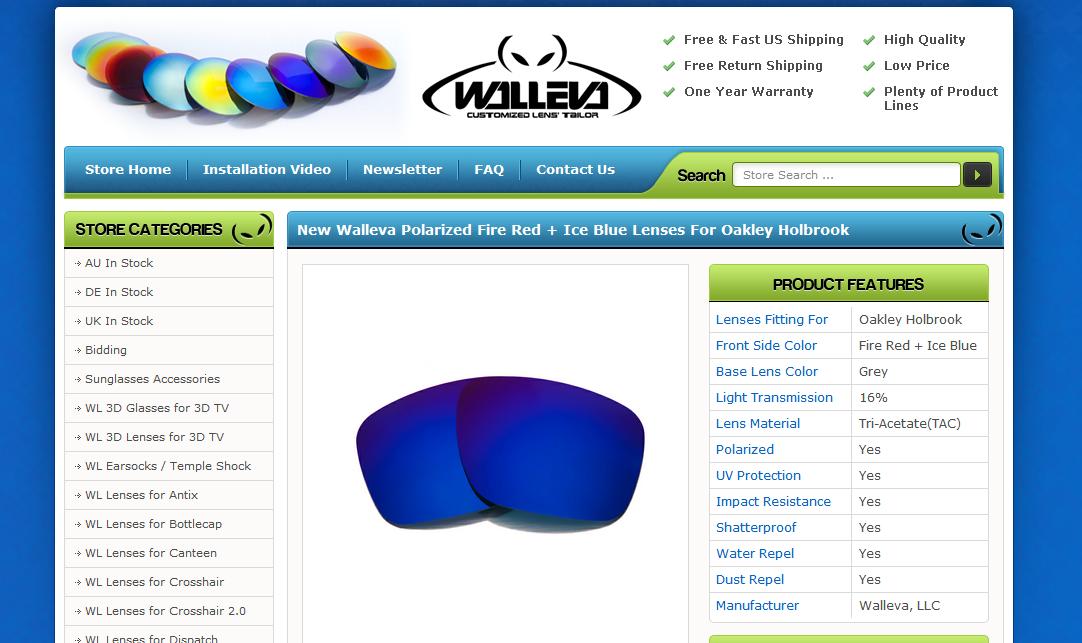 Ebay template design for walluva lenses for Ebay template design software