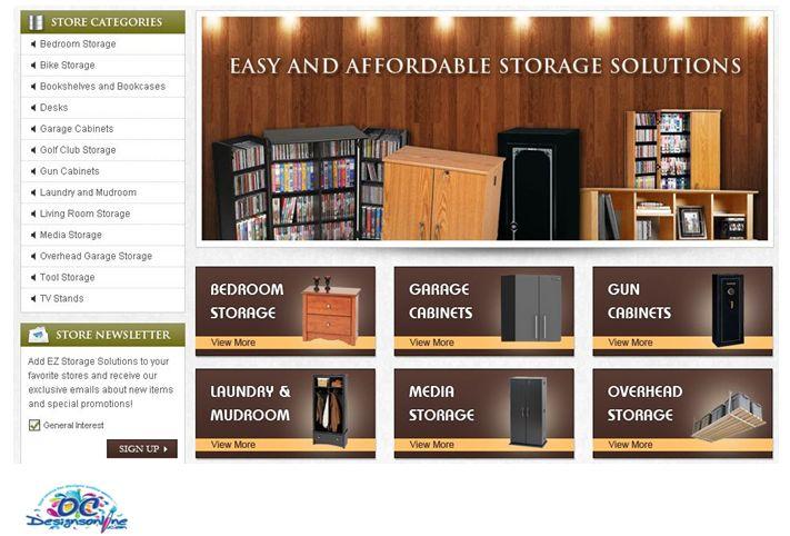OC Designs Online makes EZ Storage Solutions Pop with eBay Store Design
