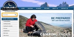 eBay store design for Rocky Mountain Outdoor