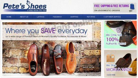 Pete's Shoes Buy.com store design