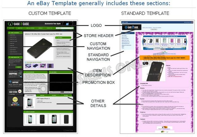 OC Designs Online Custom eBay Listing Template Design