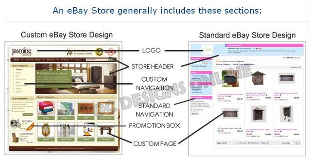 Find Custom eBay store design