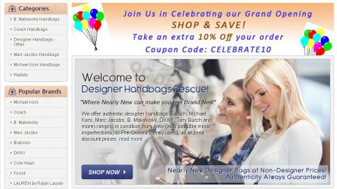 Designer Handbag Rescue Big Commerce Store Design