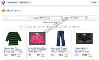 Facebook store design
