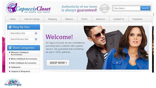 Fashion and Clothes retailer eBay Store Design