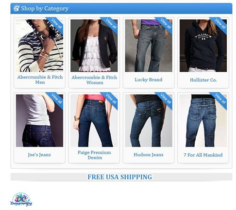 Fashion and clothes retailer eBay Store Design1
