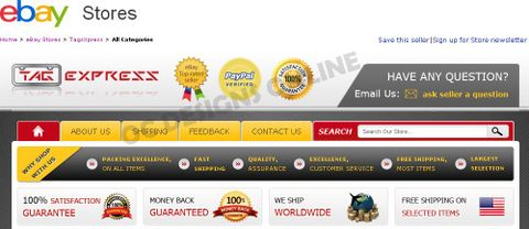 Example of eBay Store Design