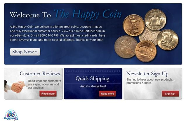 The Happy Coin Welcome Section