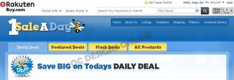 1 Sale a Day Buy.com store design
