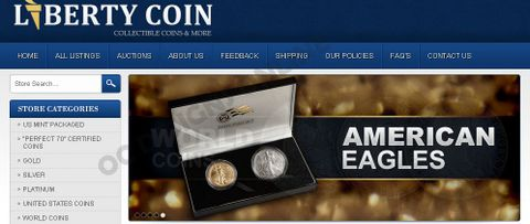 Liberty Coin eBay store design