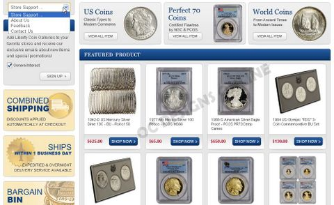 Sell coins on eBay with great eBay store design