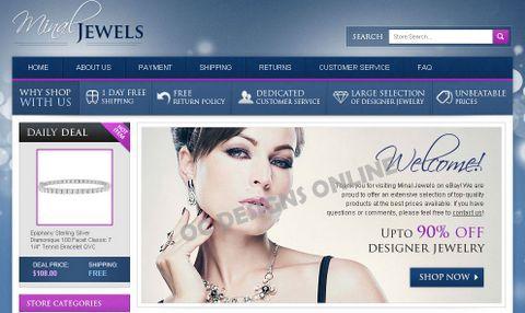 Ecommerce jewelry retailer eBay store design