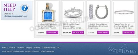 How to sell jewelry online with custom eBay store design