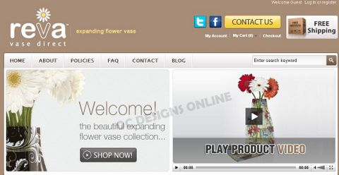 Reva Vase Direct Magento Go store design