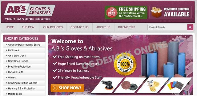 Sanding Supplies and Tools Specialty eBay store design