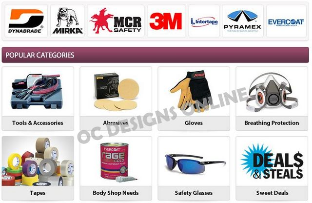Mechanic and body shop supplies eBay store design