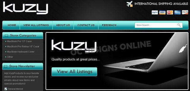 Kuzy MacBook Accessories eBay store design