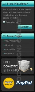 Elements for eBay store design