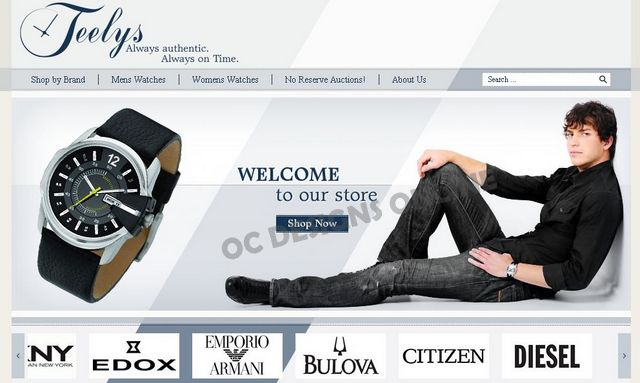 Watch and Jewelry eBay store design examples