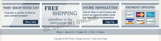 Jewelry eBay store design examples