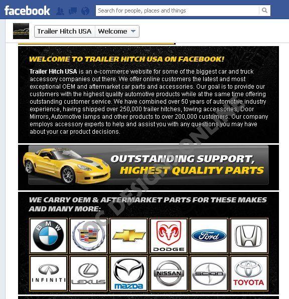 eBay store design with custom Facebook page design