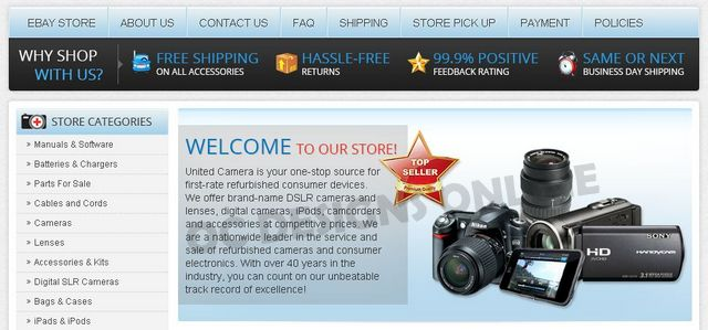 Camera and Camera Accessory Custom eBay Store Design
