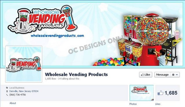 Ecommerce Custom Facebook and Twitter page design