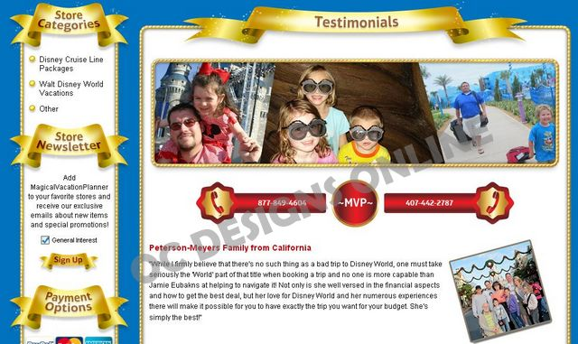 Custom eBay Customer Testimonial page design