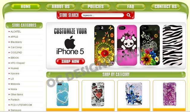 iPhone cases eBay store design
