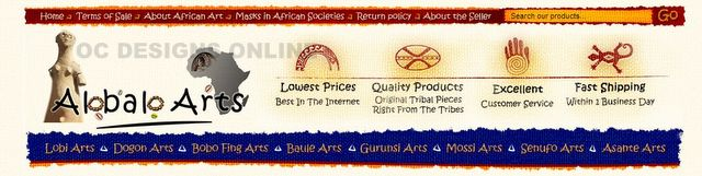African art custom eBay store design