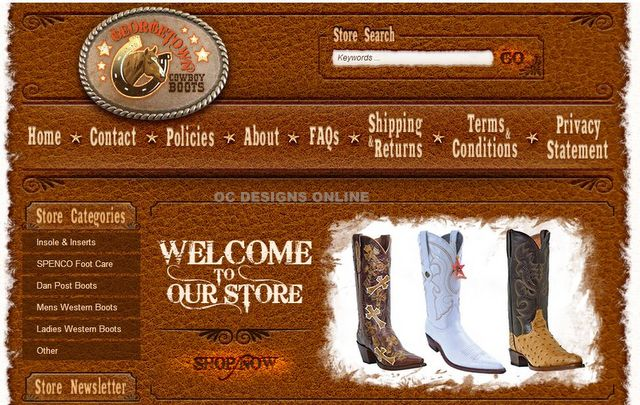Custom ecommerce store design