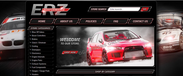 Auto parts custom eBay store design