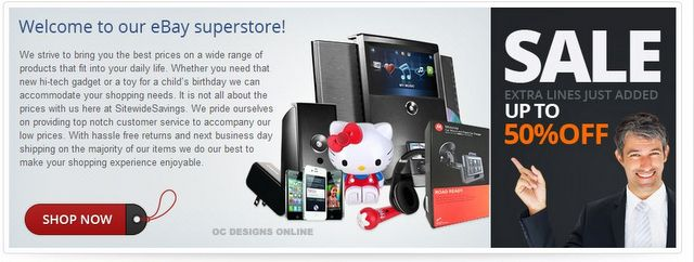 iPad and table accessory eBay store design