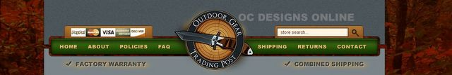 Outdoor gear and hunting accessories custom eBay store design