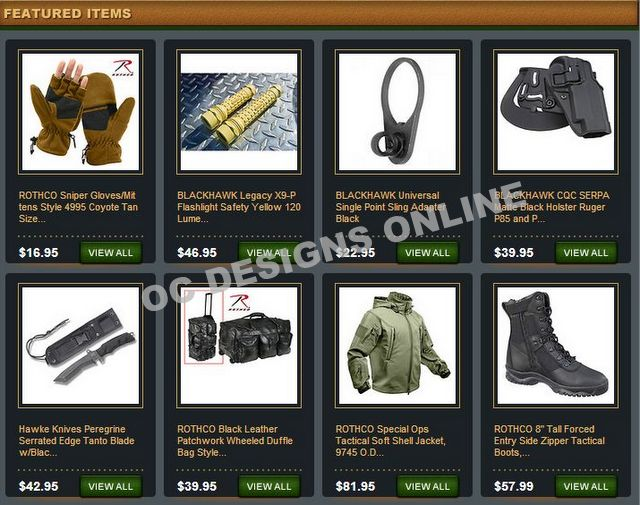 Hiking and camping eBay store design