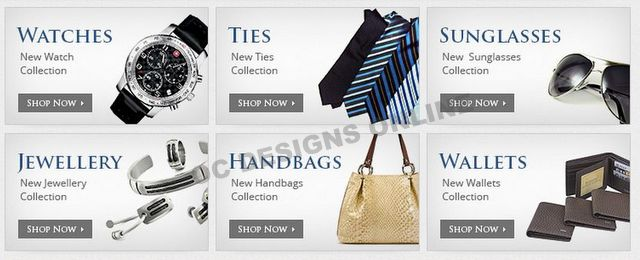 fashion and jewelry eBay store design