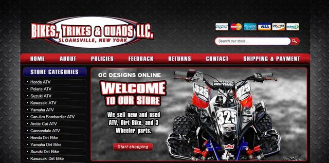 ATV Parts eBay store design