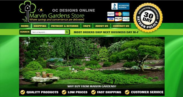 Home and Garden eBay store design