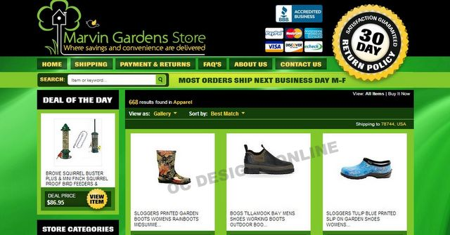 Home & Garden Store Gets eBay Store Design & Matching Listing Template