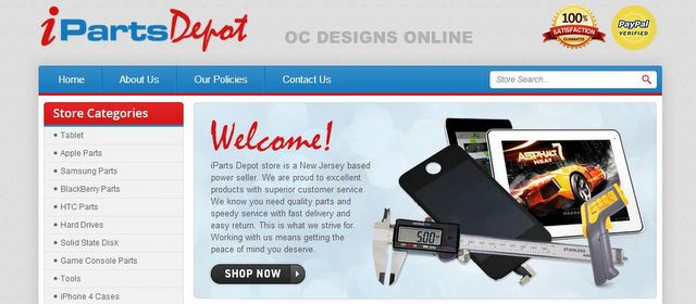 Computer Parts and Accessories eBay Store Design