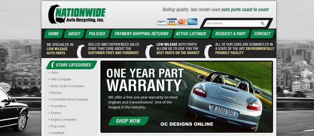 eBay store design for auto parts retailers