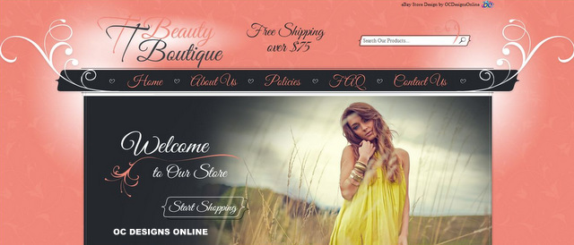 Beauty & Fashion eBay store designs