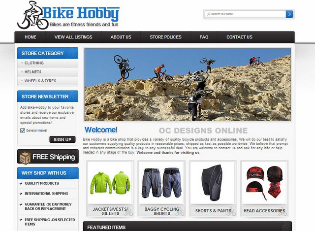 Images of Bike Shop eBay Store Designs