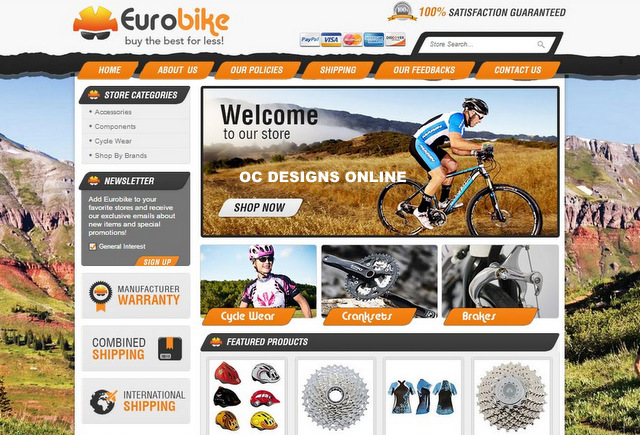 Best bicycle eBay store designs