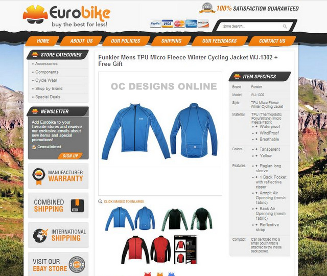 Bike shop eBay listing templates