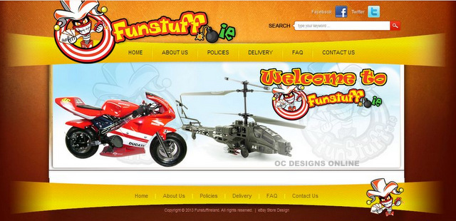 Design a custom store for my bike shop on eBay