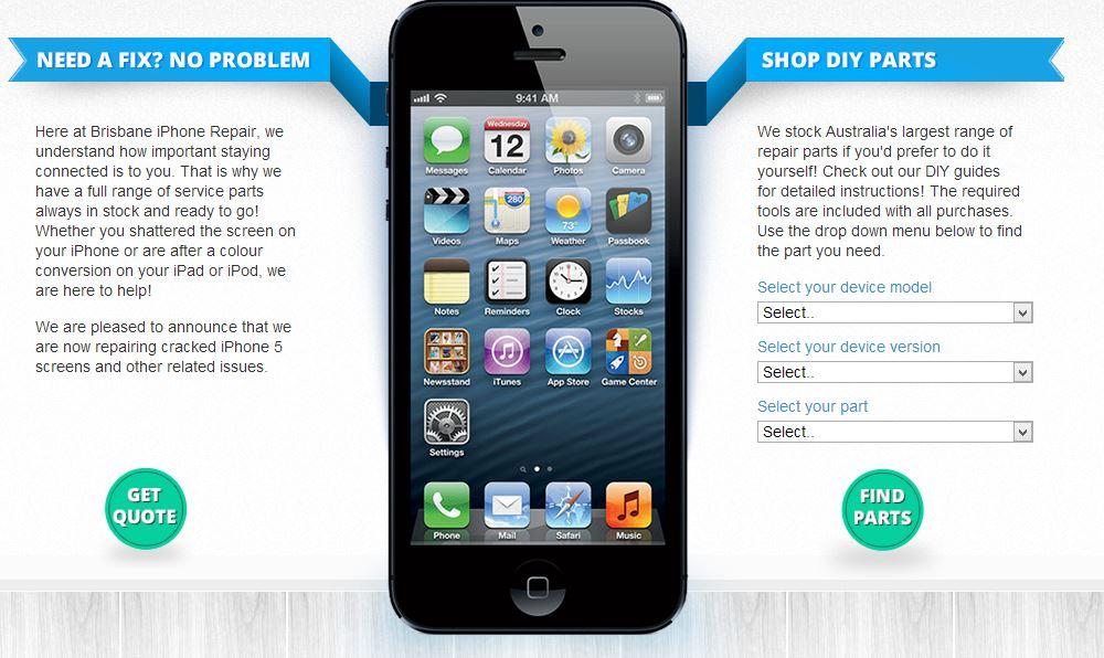 Cell Phone Repair Retailer BigCommerce Store Design